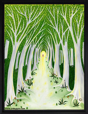 meaningful life journey path toward the light learning peace archival print on canvas