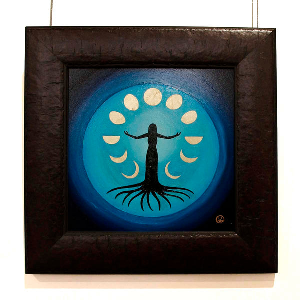 Moon Dance- Oil on Wood- 20 x 20 cm