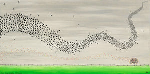 Murmuration - Oil on Canvas - 30 x 60 cm