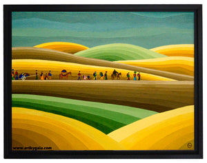 nomads peaceful life journey print on canvas