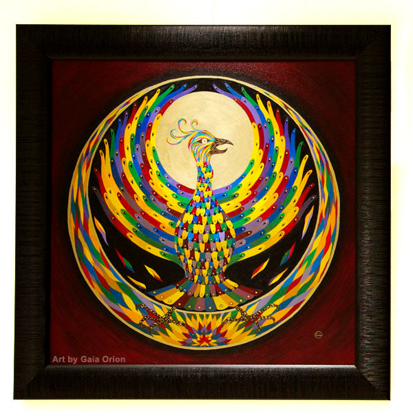 Phoenix Rising - Oil on Canvas - 60 x 60 cm