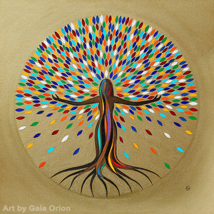 She flourishes empowering woman tree of life rainbow goddess