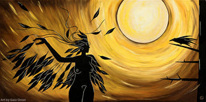 wild woman raven full moon shaman ritual