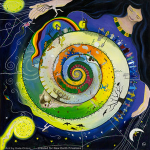 mother earth goddess grandmother life journey spiral art