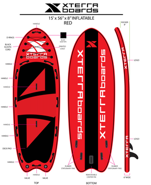 15' Mauna Kea Inflatable SUP Board