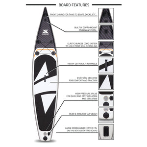 "12'6"" Carbon Touring Inflatable SUP Package"