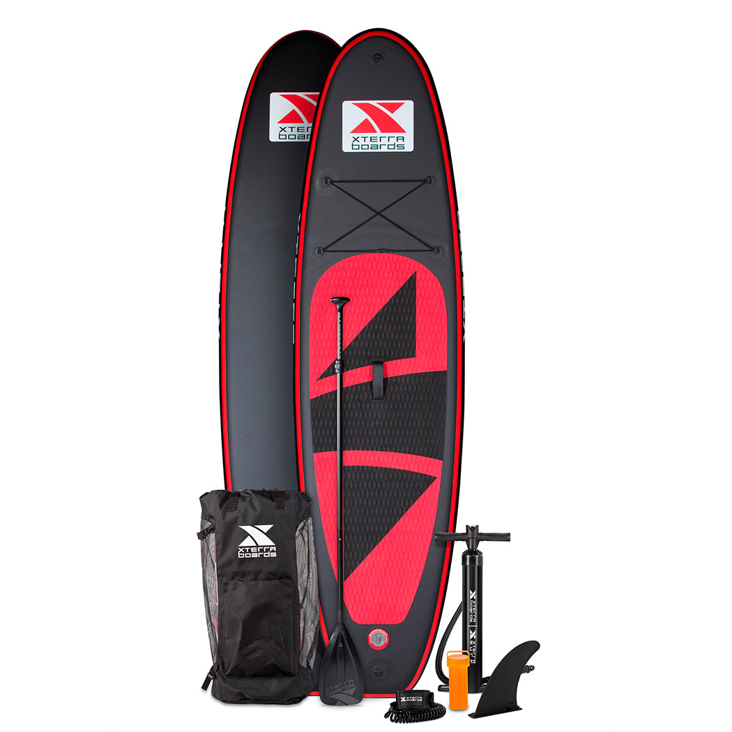 Xterra Paddle Boards >> 10 Premium Black Inflatable Sup Package