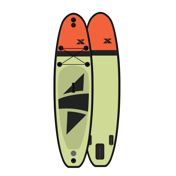 11' Ranger - Yellow/Orange Complete Paddleboard Package