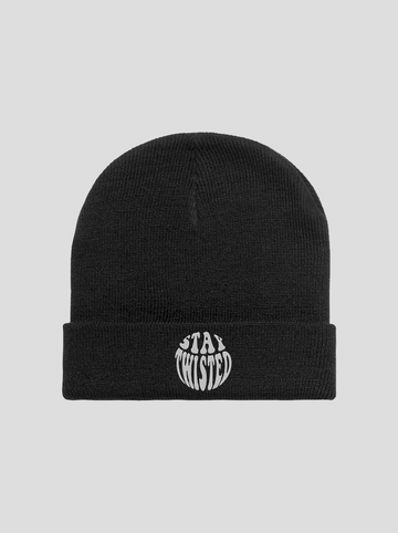 Stay Twisted | Black Beanie