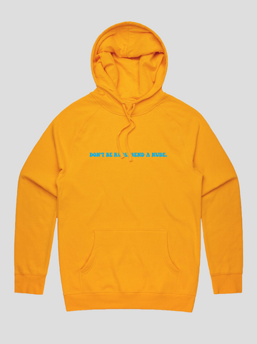 Send A Nude | Gold Hoodie