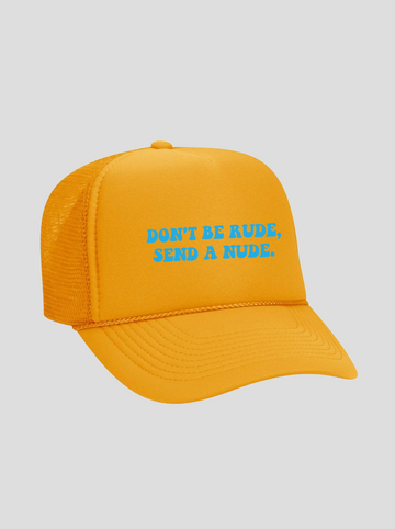 Send A Nude | Gold Trucker Hat