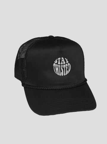 Stay Twisted | Black Trucker Hat