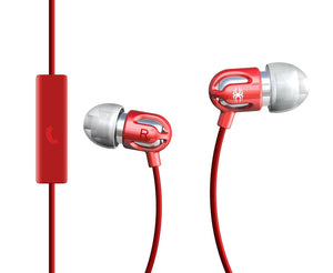 TinyEar Earphones w/ Inline Microphone_Red