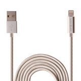 SPIDER Lightning Charging and Sync USB Cable-with LED indicator light (MFi certified), Item#E-USBLED-BK1M