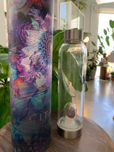 Load image into Gallery viewer, Gitana Crystal Elixir Glass Water Bottle
