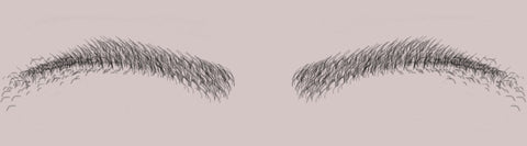 eyebrows with scattered hairs