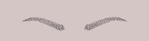 tapered eyebrows