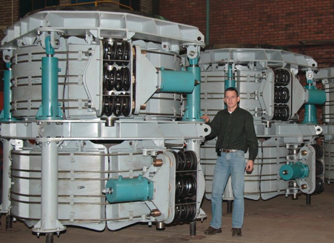 2005: new arc furnace slipping device over 20 international installed projects
