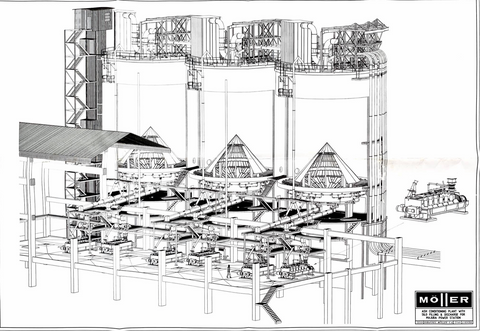 1996: 3D modeling & design on Majuba power station ash storage and conditioning plant