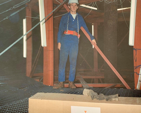 1994: design and installation of maintenance platform inside a waist water digester - Namibia
