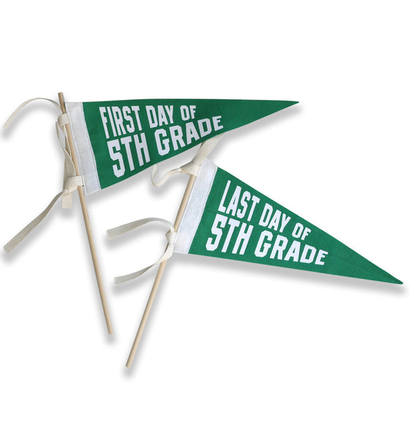 First Day Last Day School Pennant - BRIGHTS