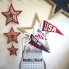 July 4th Celebration Wool Blend Felt Pennant Decoration