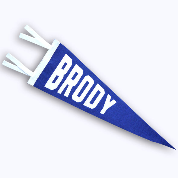 Personalized Block NAME Felt Pennant