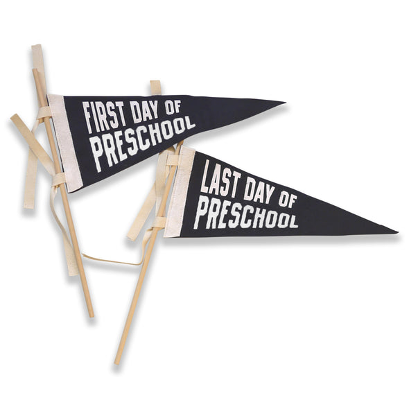 First Day Last Day School Pennant - NAVY/WHITE