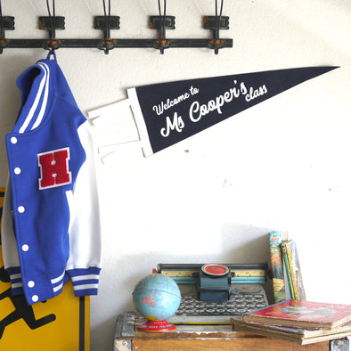 Personalized WELCOME TEACHER CLASSROOM Felt Pennant