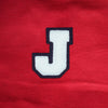 "Varsity Letter Patch, 3.5"" Full Block font. WHITE/BLACK"