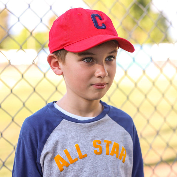 Personalized Varsity Letter Youth Baseball Cap