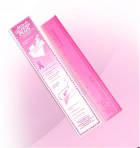 "Add-A-Quarter Ruler 12"" PLUS Pink"