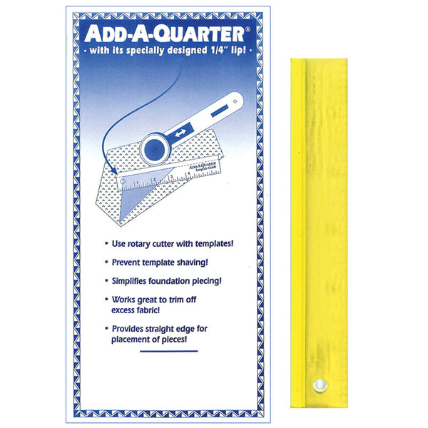 "Add-A-Quarter Ruler 6"" Yellow"