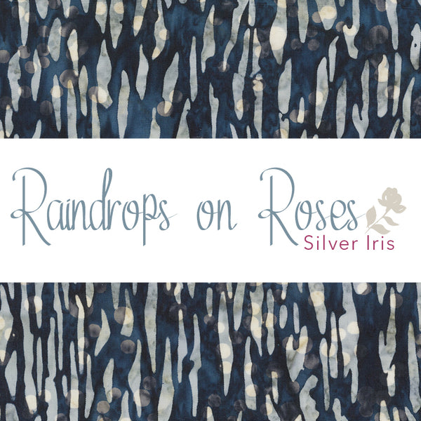 Raindrops on Roses ($13/yd)