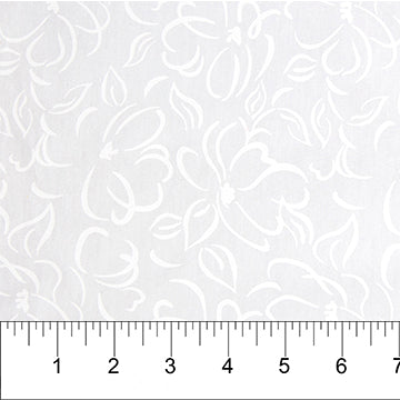 Classics - Opal - White on White Floral ($12/yd)
