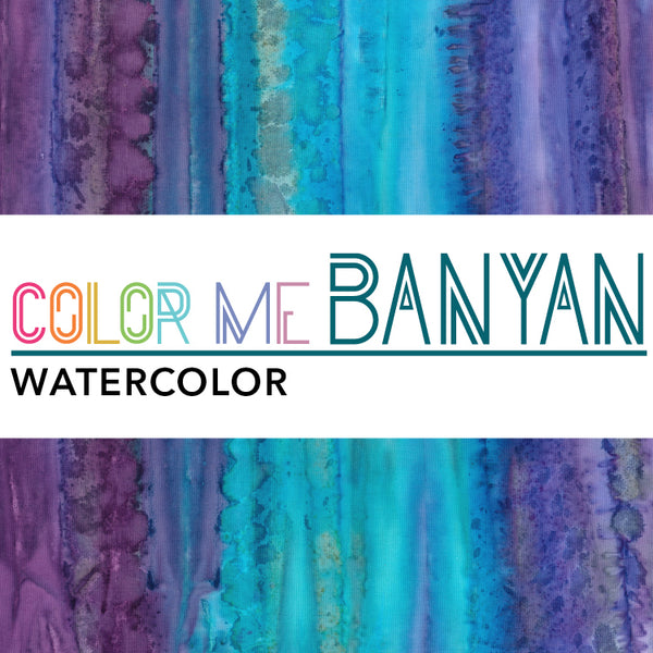 Color Me Banyan - Watercolors ($13/yd)
