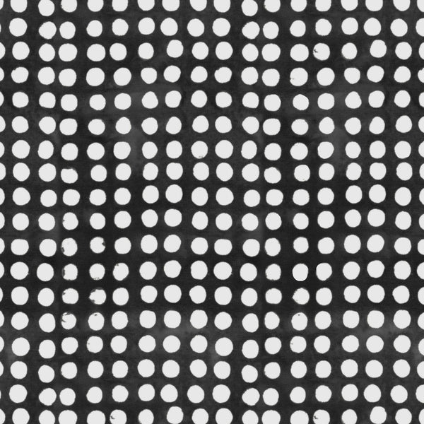 Color Therapy Batik - Dots Black/White ($12/yd)