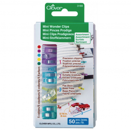 Mini Wonder Clips - Asst. Colors - 50 ct.