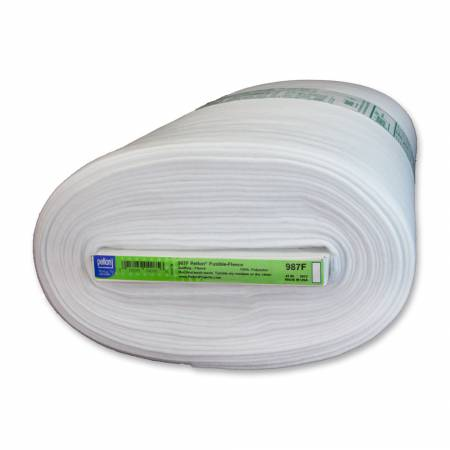 White Fusible Fleece 100% polyester ($8.60/yd)