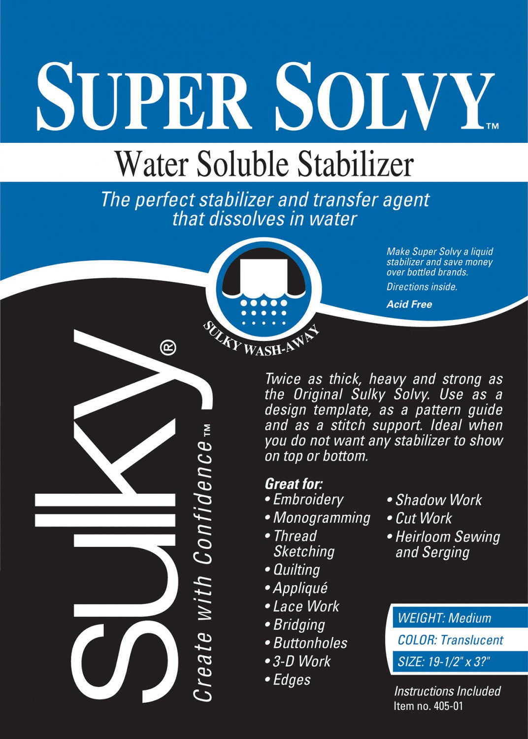 Super Solvy Water Soluable Stabilizer 20