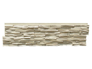 STACKED WOOD STONE - SANDY BUFF