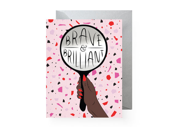 Boss Dotty Paper Co - Brave & Brilliant  Sticker Card