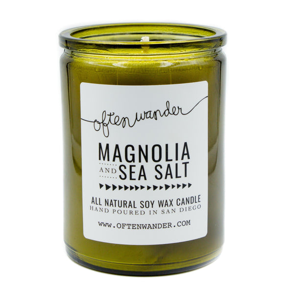 Often Wander Magnolia & Sea Salt Candle