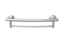 Load image into Gallery viewer, 2-IN-1 GRAB BAR TOWEL BAR W/GRIPS & HOLLOW WALL ANCHORS