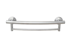 2-IN-1 GRAB BAR TOWEL BAR W/GRIPS & HOLLOW WALL ANCHORS