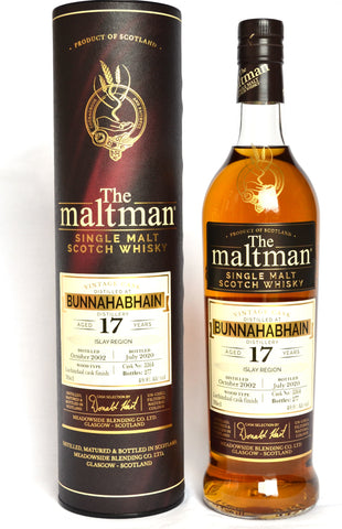The Maltman Bunnahabhain, 2002,17 Jahre, Lochindaal finish, cask no. 3364