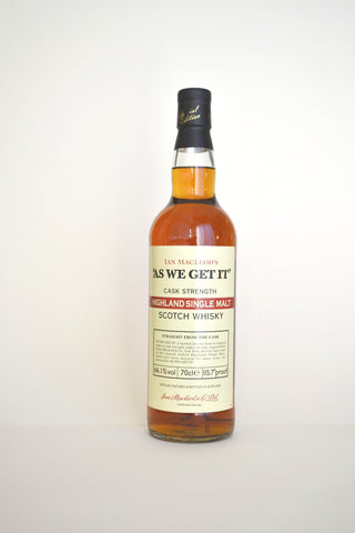 "Ian Macleod Distillers ""As We Get It"" Cask Strength Highlands"