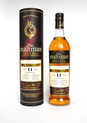 The Maltman Miltonduff, 2008, 11 Jahre, Madeira finish, cask no. 5983