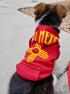 New Mexico Born & Raised Dog Hoodie
