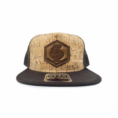5-0-Five Brown on Brown Cork Snapback